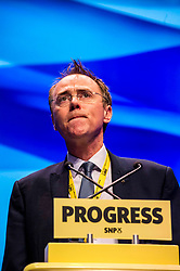 Pictured: Alasdair Allan, Minister for International Development and Europe.<br /> The members of the SNP gathered in the Scottish Events Centre in Glasgow for their annual conference.<br /> <br /> Ger Harley | EEm 10 October 2017