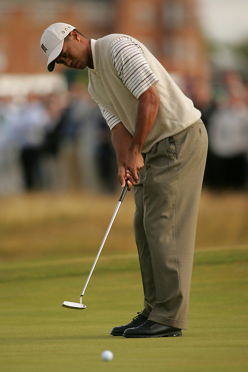 Tiger Woods..2004 Open Championship.( British Open ).Royal Troon GC.Troon, Scotland UK.Second Round.Friday, July 16 2004..photograph by Darren Carroll