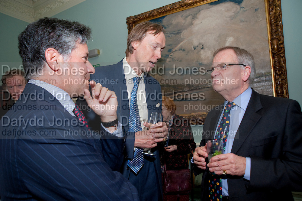 PETER SOROS; JAMES STOURTON; JEFFREY ARCHER, Nicholas Coleridge celebrates the publication of his novel; Deadly Sins. Dartmouth House, Charles St. London. 28 April 2009