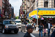 Street scene in Chinatown on 20th May 2007 in New York City, United States.