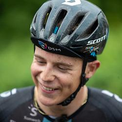 VARSSEVELD (NED) August 29: <br /> CYCLING <br /> Casper van Uden has won the Ronde van de Achterhoek. The rider of the DSM training team won the sprint of five leaders. Van Uden was joined by Van Schip and Christensen on the podium.