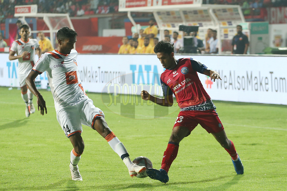 Michael Soosairaj of Jamshedpur FC during match 25 of the Hero Indian Super League 2018 ( ISL ) between Jamshedpur FC and FC Goa held at JRD Tata Sports Complex, Jamshedpur, India on the 1st November  2018<br /> <br /> Photo by: Ron Gaunt /SPORTZPICS for ISL