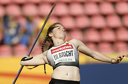 July 10, 2018 - Tampere, Suomi Finland - 180710 Friidrott, Junior-VM, Dag 1: Julia Ulbricht GER competes in Javelin Throw during the IAAF World U20 Championships day 1 at the Ratina stadion 10. July 2018 in Tampere, Finland. (Newspix24/Kalle Parkkinen) (Credit Image: © Kalle Parkkinen/Bildbyran via ZUMA Press)