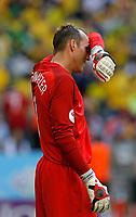 Photo: Glyn Thomas.<br />Brazil v Australia. Group F, FIFA World Cup 2006. 18/06/2006.<br /> Australia's Mark Schwarzer is dejected.