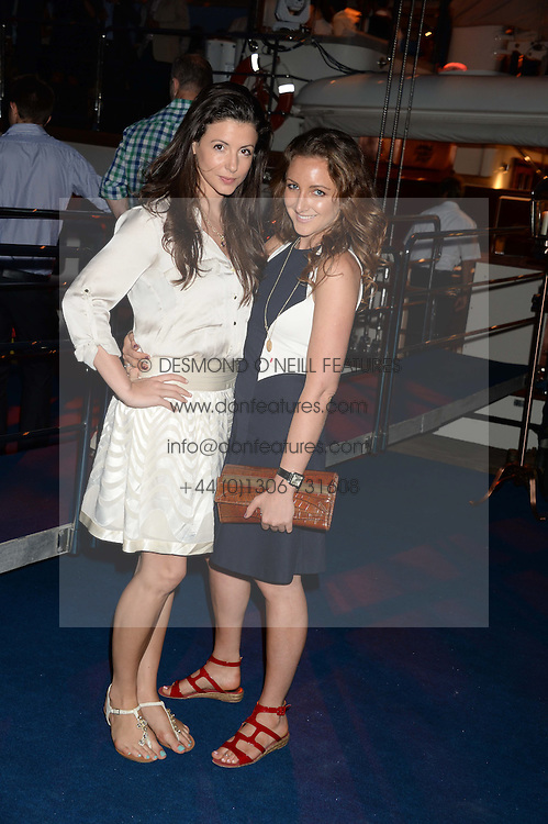 The Johnnie Walker Gold Label Reserve Party aboard John Walker & Sons Voyager, St.Georges Stairs Tier, Butler's Wharf Pier, London, UK on 17th July 2013.<br /> Picture Shows:-Shirley Leigh-Wood Oakes & Natasha Corrett.