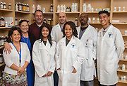 Jane Long Futures Academy students pose for a photograph at the Houston Community College Coleman College for Health Sciences pharmacy technology labs, October 16, 2014.
