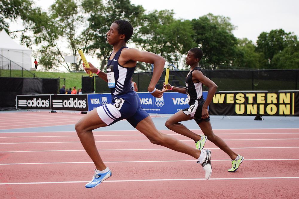 Samsung Diamond League adidas Grand Prix track & field; 4x400 meter relay youth boys, East New York Impalas, Prospect Park,