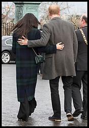 February 13, 2018 - Edinburgh, United Kingdom - Image licensed to i-Images Picture Agency. 13/02/2018. Edinburgh,Scotland,United Kingdom. Prince Harry and Meghan Markle  during their visit to Edinburgh Castle in Scotland, United Kingdom. (Credit Image: © Stephen Lock/i-Images via ZUMA Press)