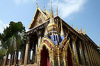 Wat Phra Kaew,  Temple of the Emerald Buddha, or by its full official name Wat Phra Sri Rattana Satsadaram is regarded as the most sacred Buddhist temple in Thailand. It is located in the historic center of Bangkok the Phra Nakhon district, within the grounds of the Grand Palace.