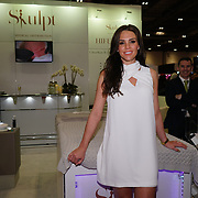 London, UK. 25 February, 2018. Danielle Lloyd  attends the Professional Beauty London 2015 showcases future of the industry. Beauty professionals of all types gathered at the Excel London in London to learn about the newest trends in the industry.