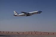 Air Force One takes off from Saudi Arabia (Riyadh)during President Carter's  visit to Saudi Arabia