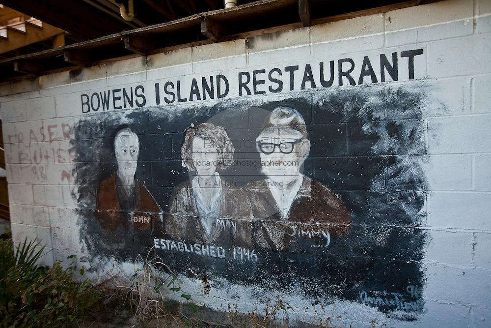 Customer graffiti on the walls at Bowen's Island restaurant along the Folly River, Charleston, SC.
