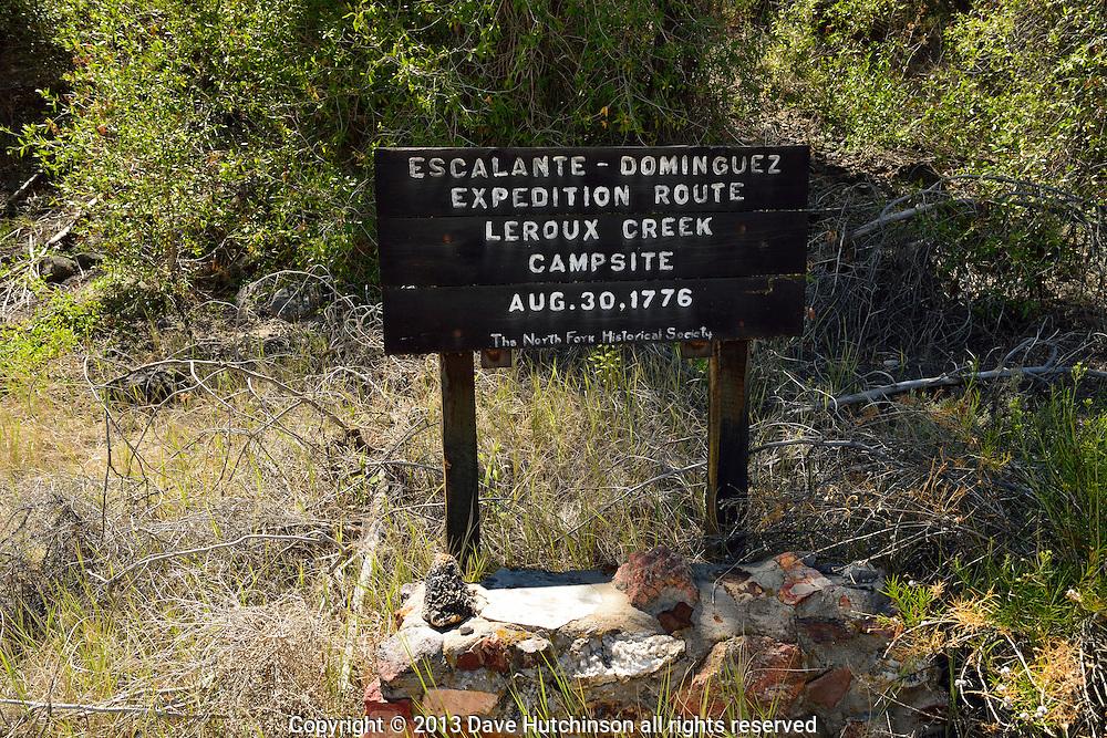Leroux Creek historic Escalante-Dominguez Expedition Route campsite, near Hotchkiss, Colorado, USA