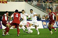 Fotball<br /> VM-kvalifisering<br /> Makedonia v Nederland<br /> Skopje<br /> 9. oktober 2004<br /> Foto: Digitalsport<br /> NORWAY ONLY<br /> denny landzaat
