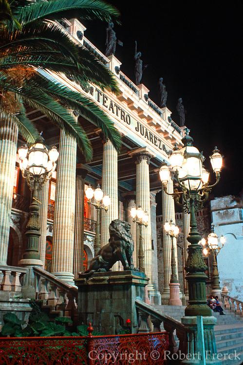 MEXICO, GUANAJUATO Juarez Theatre, Plaza Jardin de Union