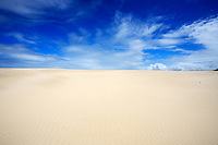 big sand dune of Mangue Seco in bahia state brazil
