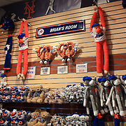 Children's toy mascots for sale at the New York Mets store at Citi Field during the New York Mets V Arizona Diamondbacks Baseball game at Citi Field, Queens, New York. 5th May 2012. Photo Tim Clayton