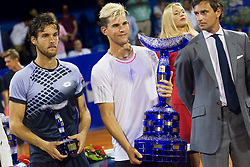 Joao Sousa (POR) and Dominic Thiem (AUT) after final match of singles at 26. Konzum Croatia Open Umag 2015, on July 26, 2015, in Umag, Croatia. Photo by Urban Urbanc / Sportida