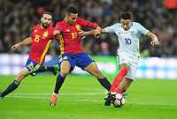 Football - 2016 / 2017 International Friendly - England vs. Spain<br /> <br /> Thiago of Spain and Jesse Lingard of England at Wembley.<br /> <br /> COLORSPORT/ANDREW COWIE
