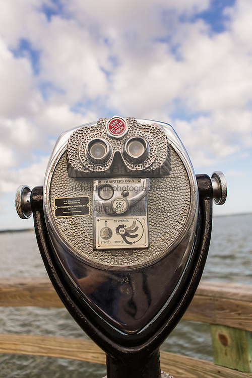 Binocular viewer at Harbor Town Sea Pines Plantation on Hilton Head Island, SC