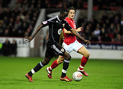 Bristol City's Albert Adomah prepares to shoot - Photo mandatory by-line: Matt Bunn/JMP - 25/01/2011 - SPORT - FOOTBALL - npower championship-Nottingham Forest v Bristol city-City Ground-Nottingham