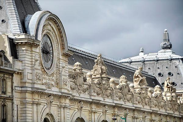 Frankrijk, Parijs, 28-3-2010Klok in de gevel van het musee 'dOrsay, voormalig treinstation, nu museum. Exterieur.Foto: Flip Franssen/Hollandse Hoogte
