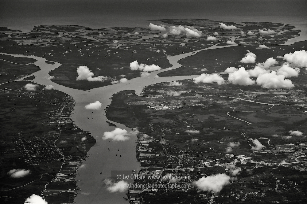Mahakam river delta, Samarinda, Kutai, East Kalimantan, Indonesia