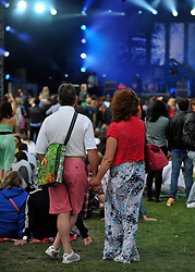 © licensed to London News Pictures. LONDON. UK.  02/07/11. DAY TWO  of The Big Feastival in Clapham Common. Jamie Oliver's The Big Feastival, is a three day event featuring food from some of the country's top chefs along with live music. The Big Feastival takes place on Clapham Common on the 1st, 2nd and 3rd July. All profits from the event will be shared between The Jamie Oliver Foundation and The Prince's Trust.  Mandatory Credit Stephen Simpson/LNP