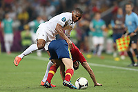 FOOTBALL - UEFA EURO 2012 - DONETSK - UKRAINE  - 1/4 FINAL - SPAIN v FRANCE - 23/06/2012 - PHOTO PHILIPPE LAURENSON /  DPPI - FLORENT MALOUDA (FRA)