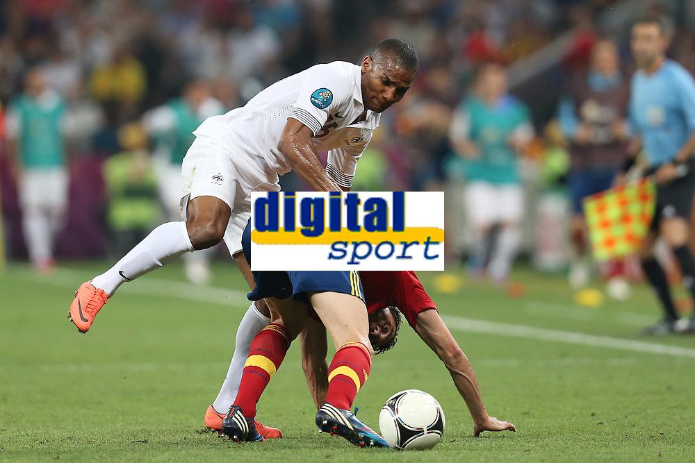 FOOTBALL - UEFA EURO 2012 - DONETSK - UKRAINE  - 1/4 FINAL - SPAIN v FRANCE - 23/06/2012 - PHOTO PHILIPPE LAURENSON /  DPPI - FLORENT MALOUDA (FRA)