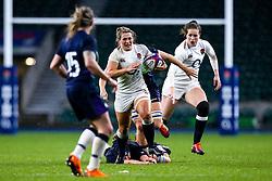 Rachael Burford of England Women takes on Sarah Bonar of Scotland Women - Mandatory by-line: Robbie Stephenson/JMP - 16/03/2019 - RUGBY - Twickenham Stadium - London, England - England Women v Scotland Women - Women's Six Nations