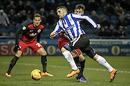 Gary Hooper (Sheffield Wednesday) skips past the challenge of Grant Hall (QPR) during the Sky Bet Championship match between Sheffield Wednesday and Queens Park Rangers at Hillsborough, Sheffield, England on 23 February 2016. Photo by Mark P Doherty.