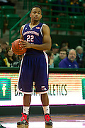 WACO, TX - DECEMBER 18: Brison White #22 of the Northwestern State Demons brings the ball up court against the Baylor Bears on December 18 at the Ferrell Center in Waco, Texas.  (Photo by Cooper Neill/Getty Images) *** Local Caption *** Brison White