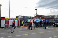 General view outside the Kingfield Stadium before the The FA Cup 3rd round match between Woking and Watford at the Kingfield Stadium, Woking, United Kingdom on 6 January 2019.