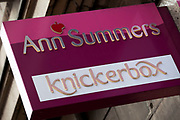 Sign for adult shop Ann Summers and underwear store Knickerbox.