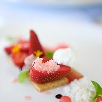 Dessert prepared at Lizard Island resort, Great Barrier Reef, Queensland, Australia.