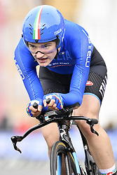 September 18, 2017 - Bergen, Norway - ELENA PIRRONE of Italy in action during the Women's Junior individual time trial at the 2017 UCI Road World Cycling Championships in Bergen, Norway. (Credit Image: © Yorick Jansens/Belga via ZUMA Press)