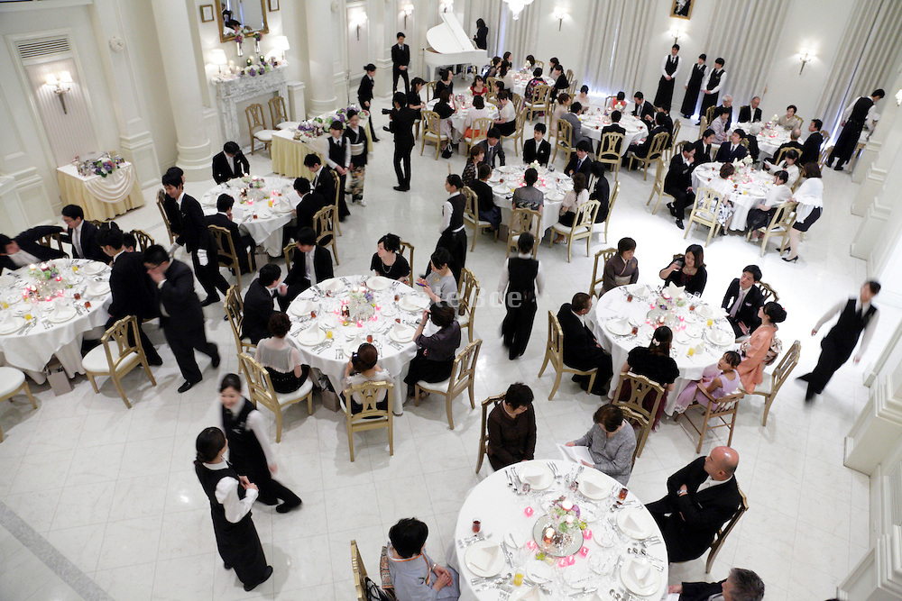 banquet room at wedding event in Japan