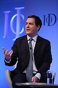 Institute of Directors Annual Conference 2013.<br /> <br /> The Rt Hon George Osborne MP, Chancellor of the Exchequer, speaking on stage at the IoD Annual Convention.