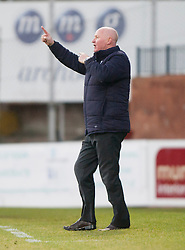 Dundee's manager John Brown. Dundee 1 v 1 Falkirk, Scottish Championship game at Dundee's home ground Dens Park.