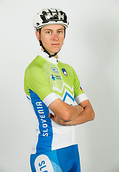 Tadej Pogacar during photo session of Slovenian Cycling Team for 2018 UCI Road World Championships Innsbruck, on September 17, in Spodnji Brnik, Slovenia. Photo by Vid Ponikvar / Sportida
