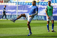 Cardiff City's Leandro Bacuna (7) during the pre-match warm-up before the EFL Sky Bet Championship match between Cardiff City and Nottingham Forest at the Cardiff City Stadium, Cardiff, Wales on 2 April 2021.