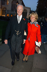 The DUKE & DUCHESS OF MARLBOROUGH at the wedding of Clementine Hambro to Orlando Fraser at St.Margarets Westminster Abbey, London on 3rd November 2006.<br /><br />NON EXCLUSIVE - WORLD RIGHTS