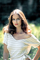 Actress Barbara Bach and wife of Beatle Ringo Starr pictured during a visit to Rome, Italy in 1977. Barbara played the part of Anya Amasova in the James Bond film 'The Spy Who Loved Me' 1977. Photo by Terry Fincher.