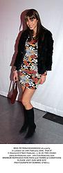 MISS PETRINA KHASHOGGI at a party in London on 24th February 2004.  PSA 47