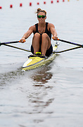 Poznan, POLAND, 21st June 2019, Friday, Morning Heats, NZL W1X, Emma TWIGG, FISA World Rowing Cup II, Malta Lake Course, © Peter SPURRIER/Intersport Images,<br /> <br /> 11:57:00