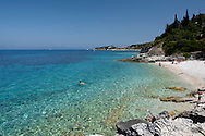 Kloni Gouli Beach on the East coast of the island of Paxos, The Ionian Islands, The Greek Islands, Greece, Europe