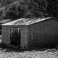 Lincoln County New Mexico old adobe shed
