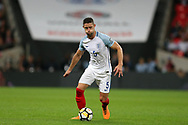 Gary Cahill of England in action.  FIFA World cup qualifying match, European group F, England v Slovakia at Wembley Stadium in London on Monday 4th September 2017.<br /> pic by Andrew Orchard, Andrew Orchard sports photography.