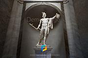 A Roman statue in Vatican City.